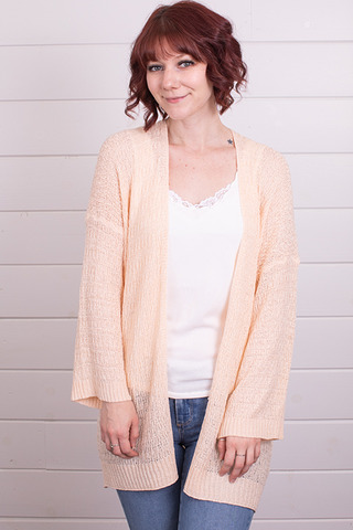 Mystree Peach Cardigan