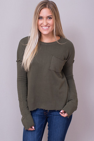 Knot Sisters Natalia Top Military Green