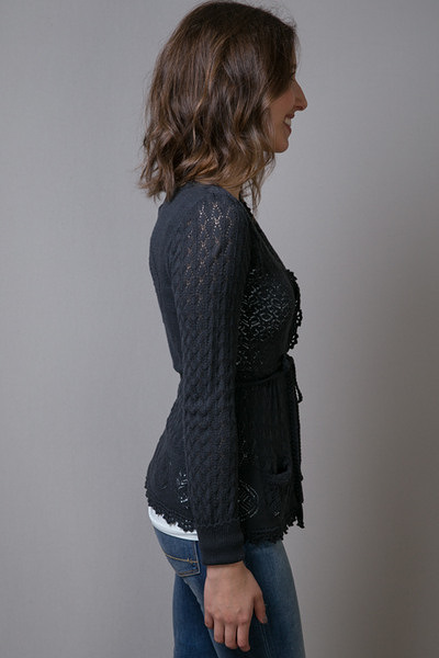 Odd Molly Black Pointers Short Cardigan 3