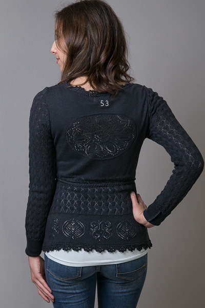 Odd Molly Black Pointers Short Cardigan 4