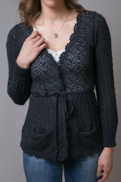 Odd Molly Black Pointers Short Cardigan 2