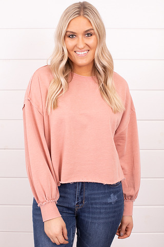 Z Supply Tempest Sweatshirt Petal Pink