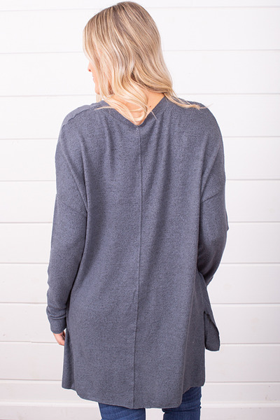 Z Supply The Marled Sweater Storm Grey 4