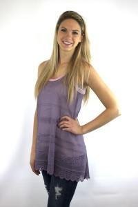 Dusty Grape Laceys Tunic