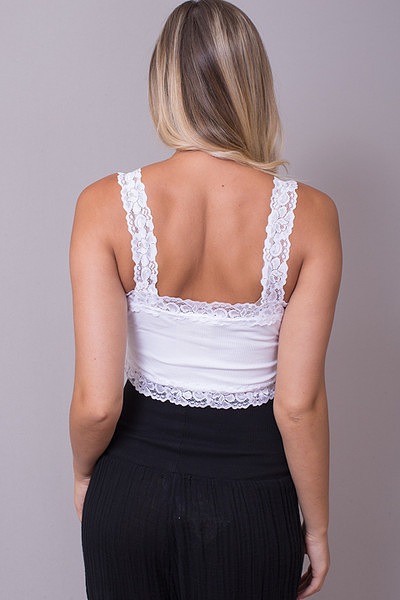 M. Rena Cropped Lace Cami 11