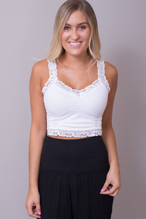 effb45bba2 M. Rena Cropped Lace Cami