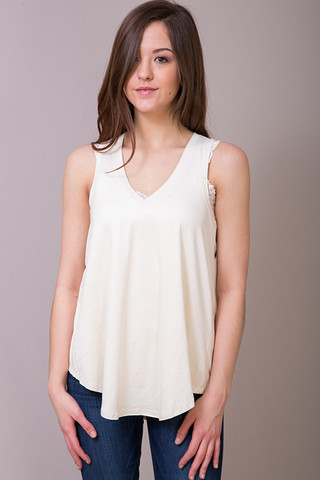 Z Supply The Suede Swing Tank Ivory