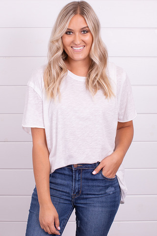 Free People Clarity Ringer Tee Optic White