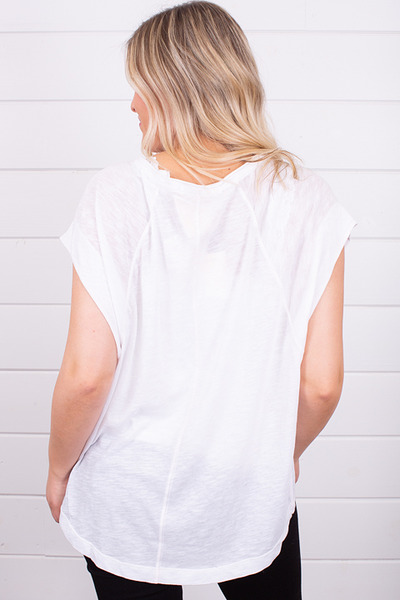 Free People Halo Tee White 4