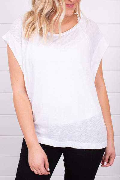 Free People Halo Tee White 2