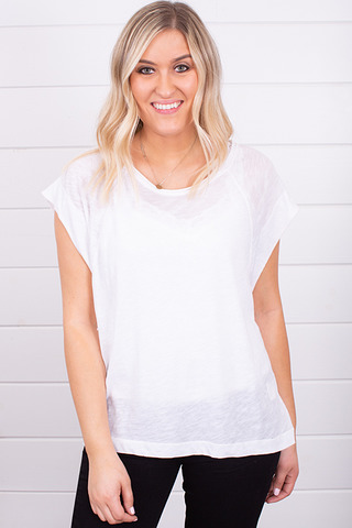 Free People Halo Tee White