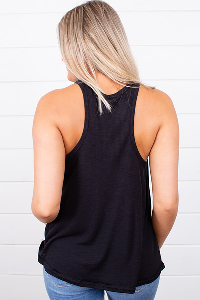Free People Long Beach Tank Black 3