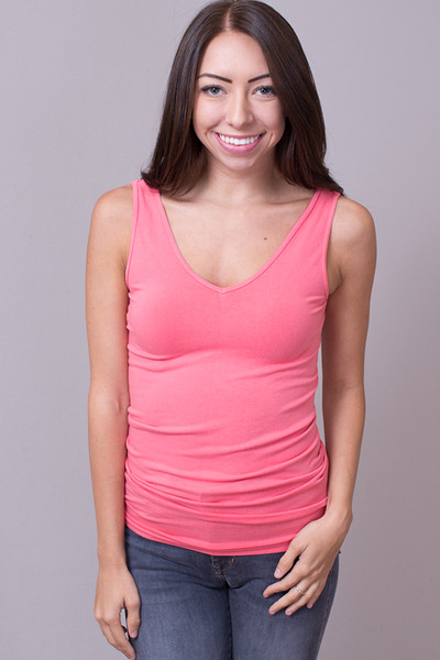 Reversible Scoop Tank Dusty Rose