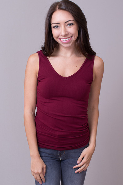 Reversible Scoop Tank Burgundy