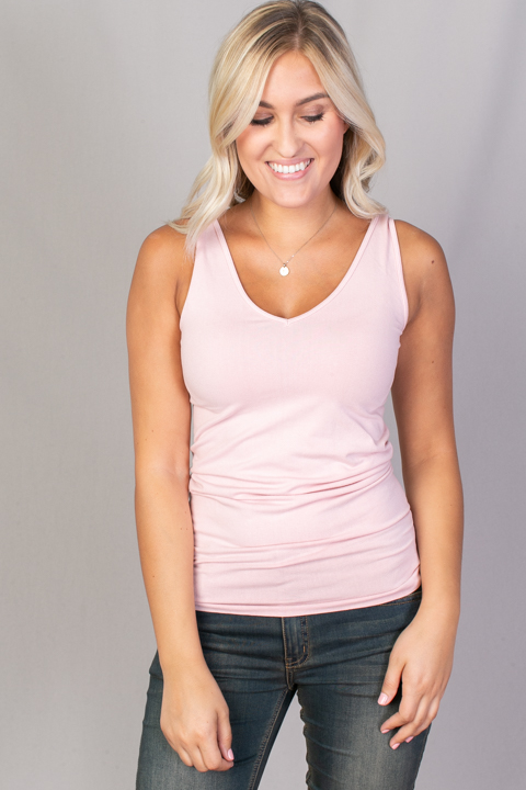 Reversible Scoop Tank Pink Sand
