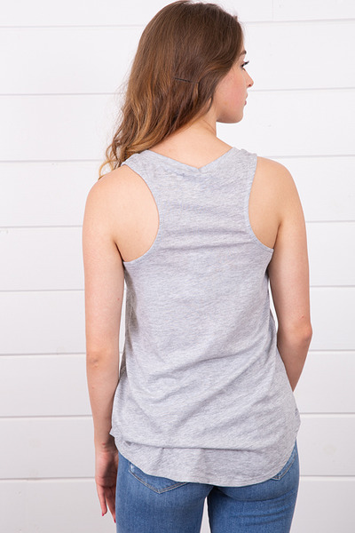 Z Supply The Pocket Racer Tank Heather Grey 4
