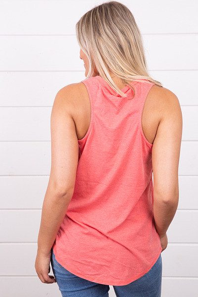 Z Supply The Pocket Racer Tank Sugar Coral 3