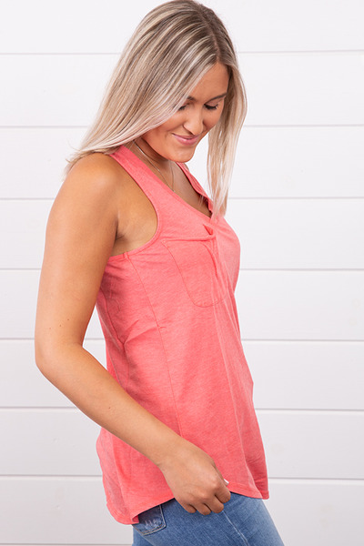 Z Supply The Pocket Racer Tank Sugar Coral 2