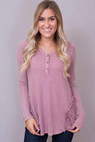 Mystree Dusty Rose Long Sleeve