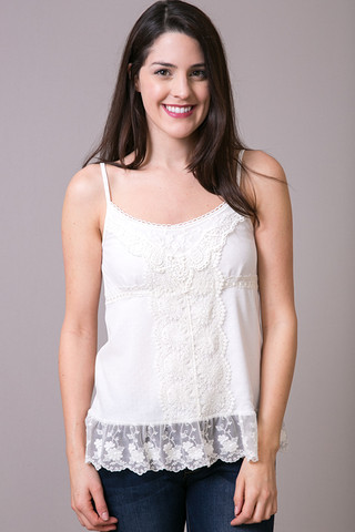 O2 Collection Angel Dot Cami Ivory