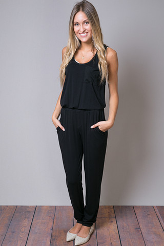 Heather by Bordeaux Scoopneck Jumpsuit
