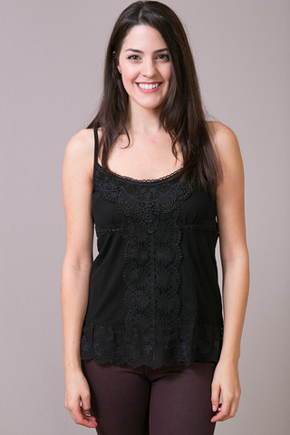 O2 Collection Angel Dot Cami Black