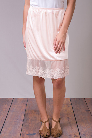 O2 Collection Blush Pink Lace Slip Skirt