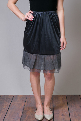 O2 Collection Circle Lace Slip Skirt