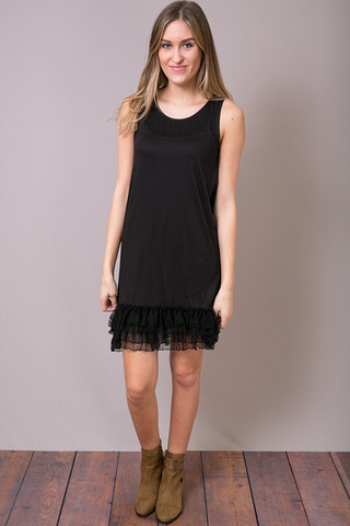 O2 Collection Jersey Dot Ruffle Slip