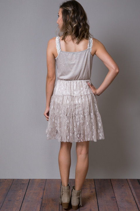O2 Collection Mocha Lace Tulle Dress 4