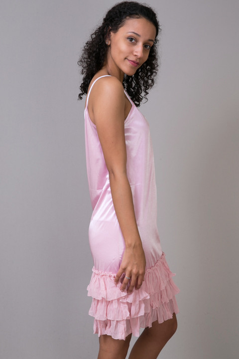 O2 Collection Pink Tissue Ruffle Slip 2