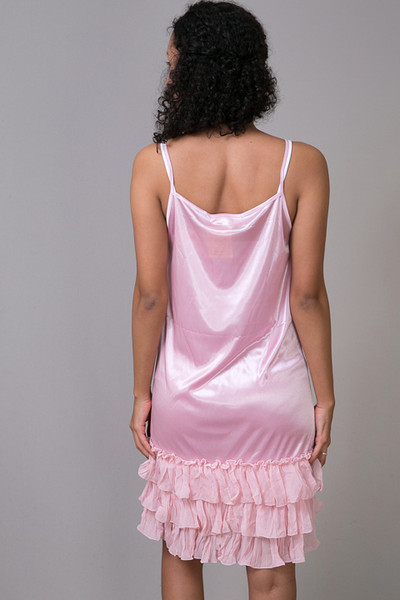 O2 Collection Pink Tissue Ruffle Slip 3