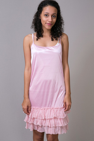 O2 Collection Pink Tissue Ruffle Slip
