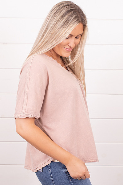 Ces Femme Pink Organic Tee 4