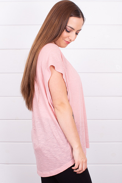 Free People The Halo Tee Pink 3
