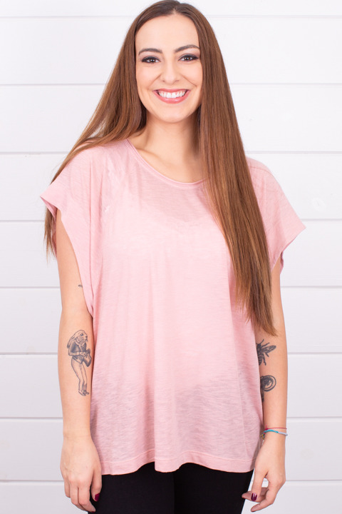 Free People The Halo Tee Pink