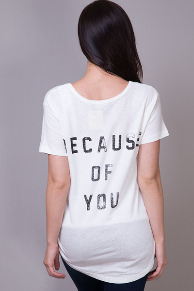 Knot Sisters Because of You Tee 4