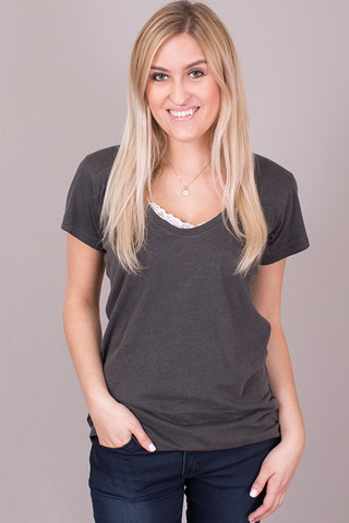STILLWATER The Scoop Neck Tee Black