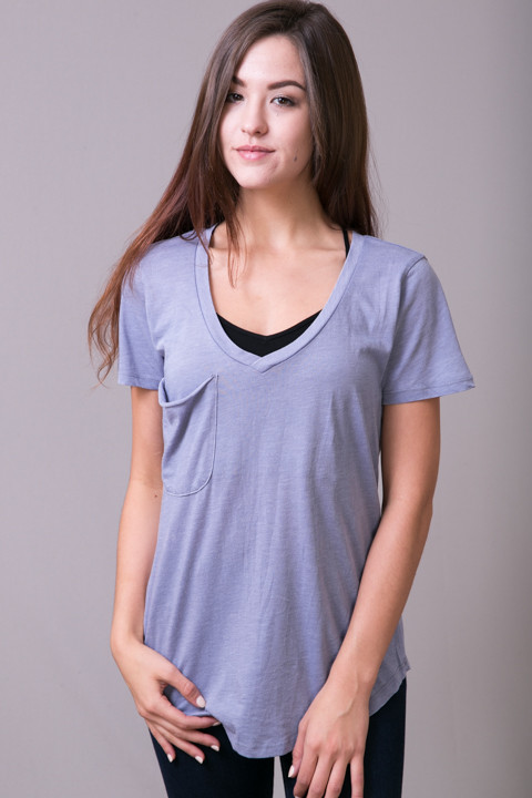 Z Supply The Pocket Tee Blue Granite