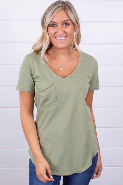 Z Supply The Pocket Tee Oil Green