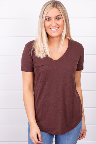 The Airy Slub Pocket T..