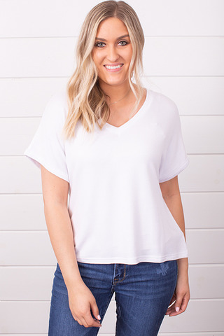 Z Supply The Alda Dolman Tee White