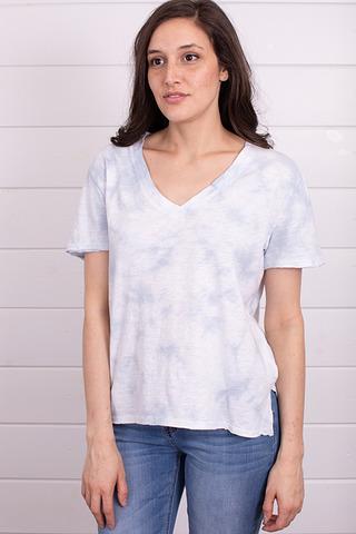 Z Supply The Cloud Tie Dye Tee Light Blue