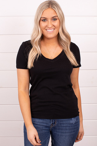 Z Supply The Perfect V-Neck Black