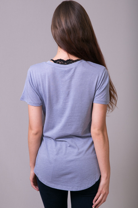 Z Supply The Pocket Tee Blue Granite 4