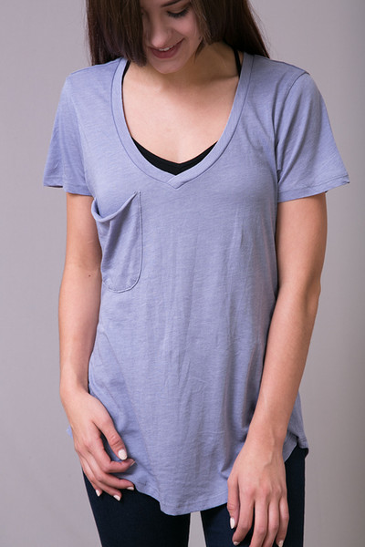 Z Supply The Pocket Tee Blue Granite 3