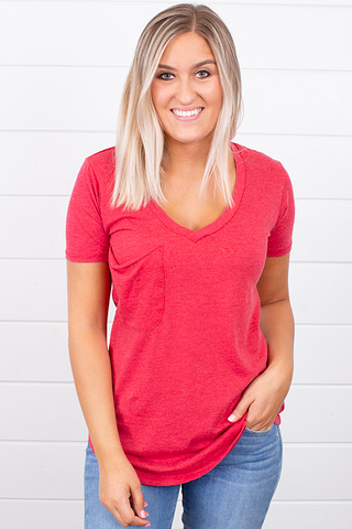 Z Supply The Pocket Tee Jester Red