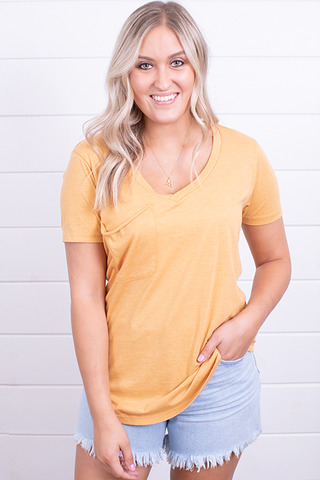 Z Supply The Pocket Tee Marigold