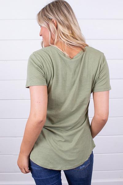 Z Supply The Pocket Tee Oil Green 2