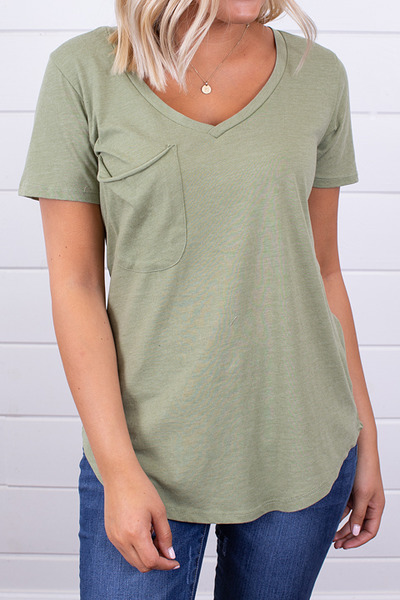 Z Supply The Pocket Tee Oil Green 4